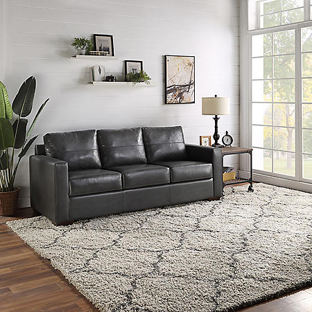 Providence Leather Match Sofa
