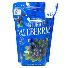 Member's Mark Natural Blueberries, Frozen (4 lbs.)