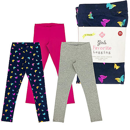 Member's Mark Girls 3pk Leggings
