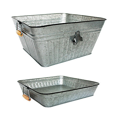 Member's Mark Galvanized Beverage Tub & Tray Set