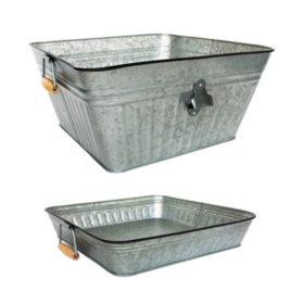 Member's Mark Galvanized Beverage Tub & Tray Set