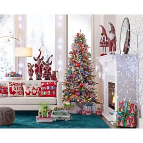 Member's Mark 7.5' Aspen Pine Flocked Christmas Tree