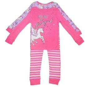 Member's Mark Girl's 4-Piece Super Soft Snugfit Cotton Pajama Set
