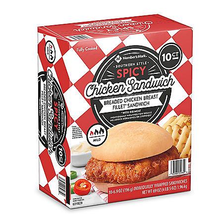 Member's Mark Southern-Style Spicy Chicken Sandwich, Frozen (10 ct.)