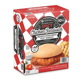 Member's Mark Southern-Style Spicy Chicken Sandwich, Frozen (10 ct.)