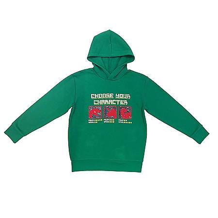 Member's Mark Boys' Long Sleeve Hooded Character Dino Flip-Sequin Sweatshirt