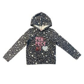 Member's Mark Girls' Long Sleeve Hooded Perfect At Heart Flip-Sequin Sweatshirt