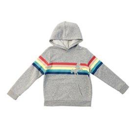 Member's Mark Girls' Long Sleeve Hooded Rainbow Unicorn Flip-Sequin Sweatshirt