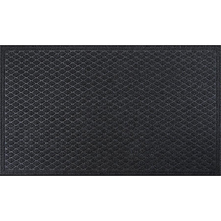 Member's Mark Antimicrobial 3x5 Entrance Mat, Diamond Scraper (Charcoal)