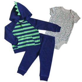 Member's Mark Infant 3-Piece Hoodie Cardigan Set