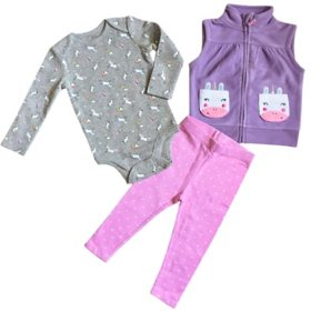 Member's Mark Infant 3-Piece Vest Cardigan Set