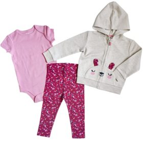 Member's Mark Infant 3-Piece Hoodie Cardigan Set