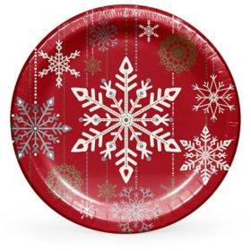 "Member's Mark Holiday Snowflakes Paper Plates 10"" - 90 ct."