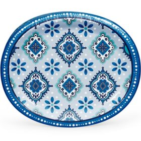 "Member's Mark Mandala Magnificence Oval Paper Plates, 10"" x 12"" (55 ct.)"