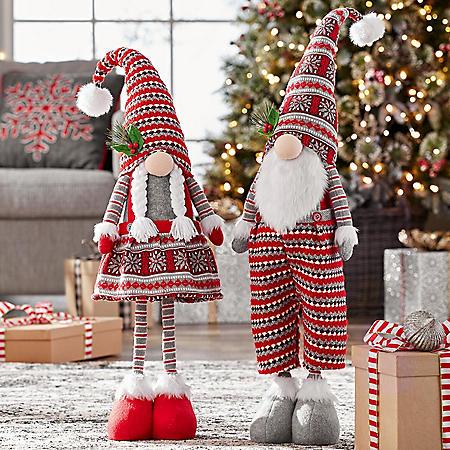 Member's Mark 2-Piece Christmas Gnome Set