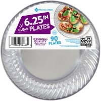 """Member's Mark Clear Plastic Plates, 6.25"""" (90 ct.)"""