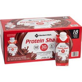 Member's Mark High Protein Chocolate Shake (11 fl. oz., 18 pk.)