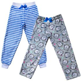Member's Mark Girls' Sleep Pants, 2 Pack