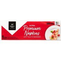 "Member's Mark Premium White 2-Ply Napkins, 13"" x 12.7"" (110 ct./pk., 6 pk.)"