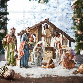 Member's Mark 9-Piece Nativity Set (Multicultural)