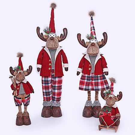 Member's Mark 4-Piece Plush Moose Set