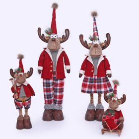 Member's Mark 4-Piece Plush Moose Set