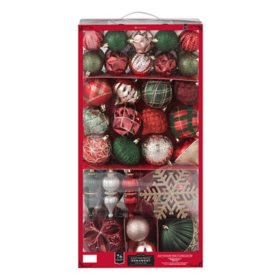 Member's Mark 76 ct. Shatterproof Ornament Collection (Holiday Splendor)