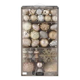 Member's Mark 76 ct. Shatterproof Ornament Collection Luminous Reflections