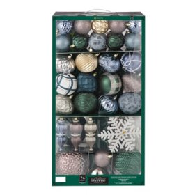 Member's Mark 76-ct. Shatterproof Ornament Collection (Cedar Ridge)