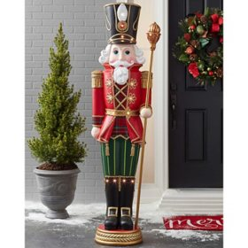 Member's Mark Pre-Lit 6' Grand Nutcracker with 15 LED Lights