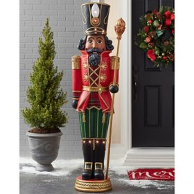 Member's Mark Pre-Lit 6' Grand Nutcracker Multicultural with 15 LED Lights