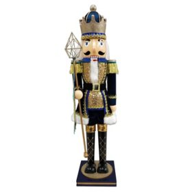 Member's Mark 32'' Wood Nutcracker (Blue)