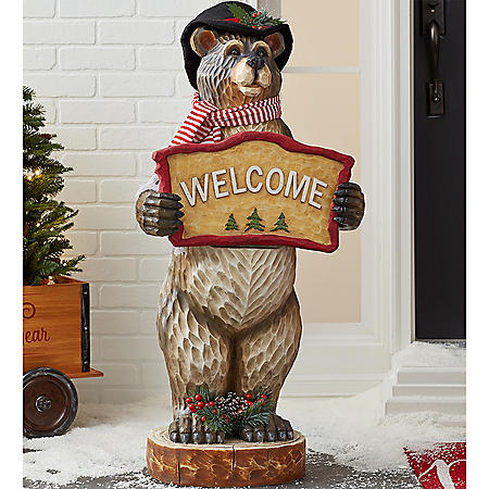 "Member's Mark 42"" Holiday Bear Decor"
