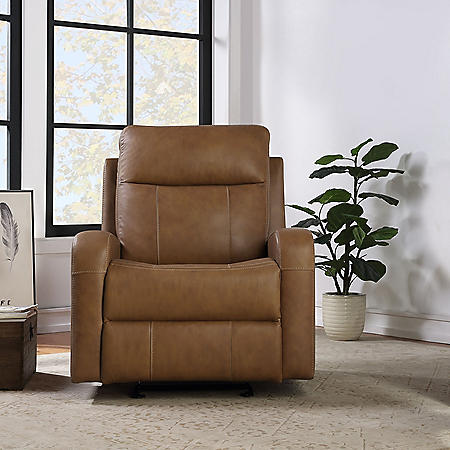 Member's Mark Manhattan Leather Match Glider Recliner