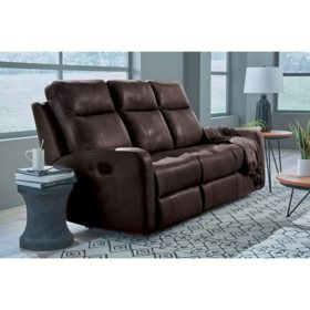 Member's Mark Leather Match Manhattan Dual Recline Motion Sofa, Assorted Colors