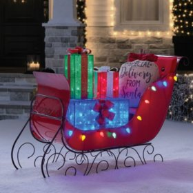 "Member's Mark 54"" Sleigh with Gift Boxes"