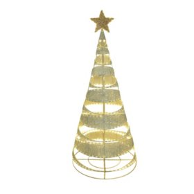 Member's Mark 84'' Pre-Lit LED Pop-Up Spiral Tree
