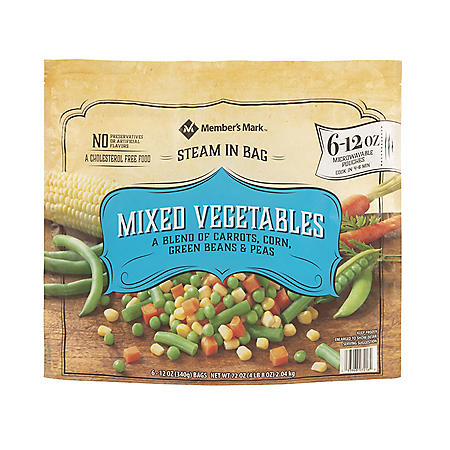 Member's Mark Mixed Vegetables, Frozen (12 oz. pouch, 6 ct.)