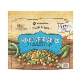 Member's Mark Mixed Vegetables, Frozen (12 oz. pouch, 6 ct.)