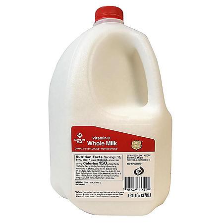 Member's Mark Grade A Vitamin D Whole Milk (1 gal.)