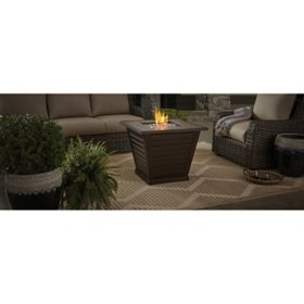 "Member's Mark 30"" Wood-Grain Tile Top Fire Pit"