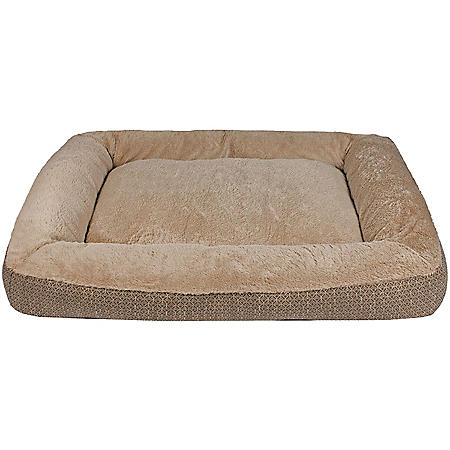 """Member's Mark Bolster Sleeper Pet Bed, 27"""" x 36"""" (Choose Your Color)"""