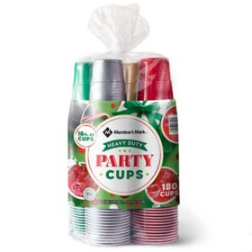 Member's Mark Premium Quality Holiday Cups (18 oz., 180 ct.)