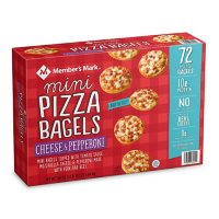Member's Mark Pepperoni and Cheese Mini Pizza Bagels, Frozen (72 ct.)