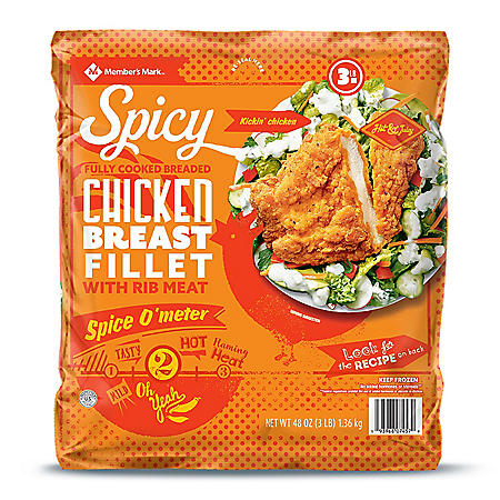 Member's Mark Spicy Chicken Breast Fillets (3 lbs.)