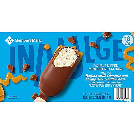 Member's Mark Double Dipped Mini Ice Cream Bars (18 ct.)