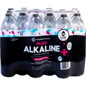 Member's Mark Plus+ Alkaline Water (18 pk., 1 L)