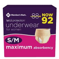 Member's Mark Total Protection Incontinence & Postpartum Underwear for Women