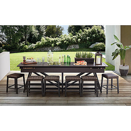 Member's Mark Lakemont 7-Piece Shuffleboard Dining Set