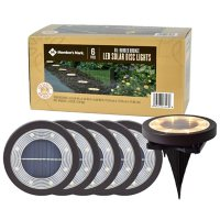Member's Mark 6 Piece LED Solar Disc Lights - Oil-Rubbed Bronze